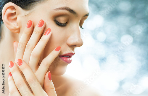 colorful manicure Poster