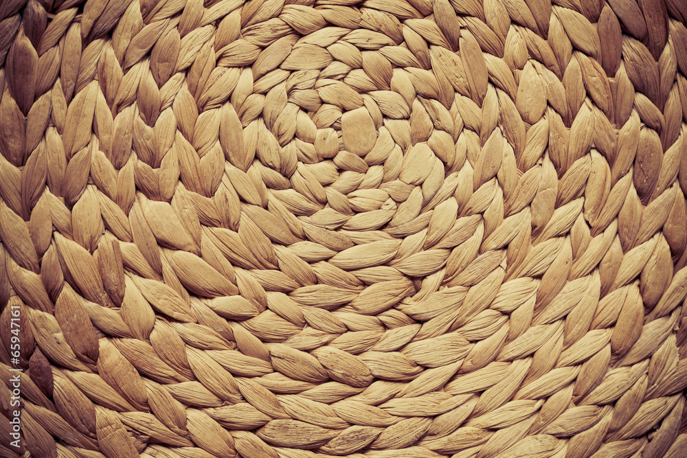Fototapety, obrazy: Wicker woven pattern for background or texture