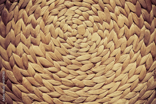 Fotografía  Wicker woven pattern for background or texture