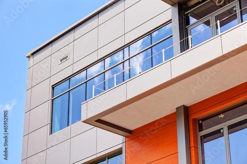 Fotografie, Obraz  aluminum facade and alubond panels