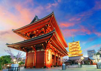 Tokio-Sensoji-ji, świątynia w Asakusa, Japonia