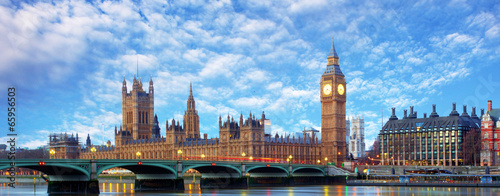 Poster London London panorama - Big ben, UK