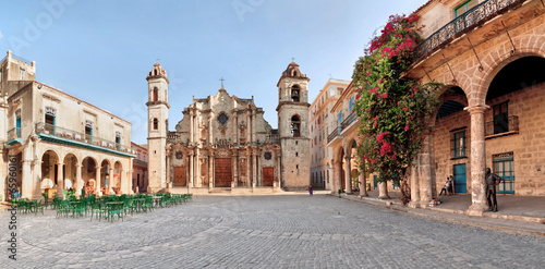 Canvas Prints Havana San Cristobal Cathedral, Cuba