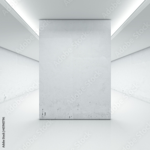 Fotografía  Large hall with white wall