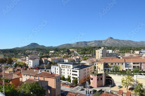 Vue panoramique d'Aubagne Wallpaper Mural