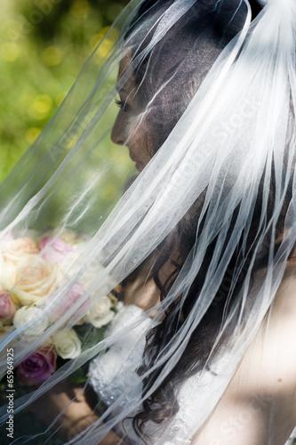 Bride portrait Tablou Canvas