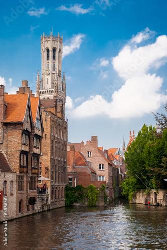 Poster Brugge Bruges, Belgium, Minnewater lake