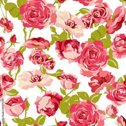 Vintage Seamless Roses Background