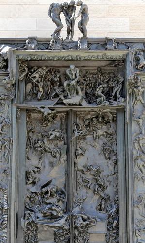 Auguste Rodin ...porte de l'enfer Canvas Print