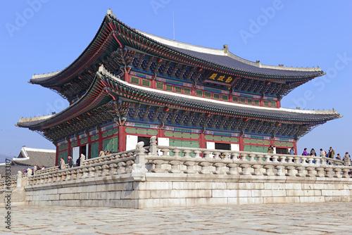 Stampa su Tela  Gyeongbokgung Palace, Seoul Korea