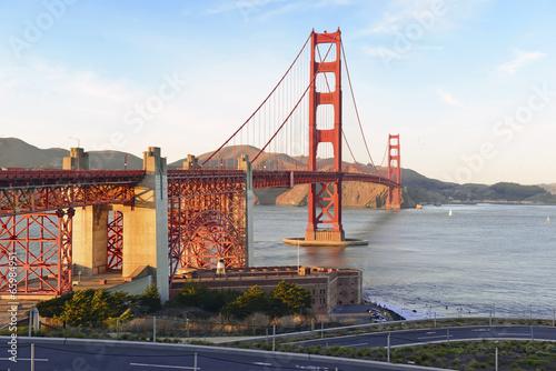 Aluminium Prints Golden Gate Bridge in San Francisco, California, USA