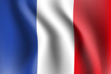 Fototapeta Fototapety Paryż - flaga Francji wektor