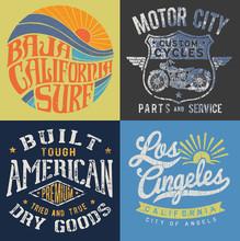 Vintage T-shirt Graphic Set 2
