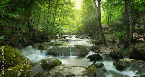 Papiers peints Cascades forest waterfall