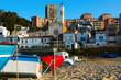 sea coast of catalan town. Montgat