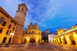 Fadri tower and Cathedral at Castellon de la Plana in night