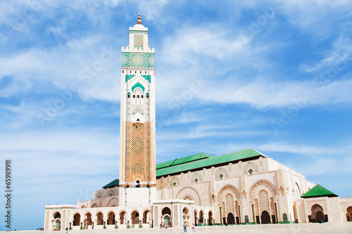 Poster Maroc Moschea Hassan II
