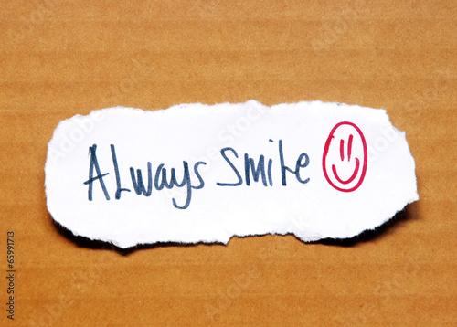 Fotografie, Obraz  always smile text
