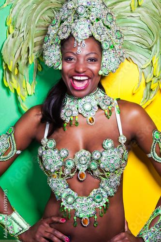 fototapeta na szkło Brazylijska Samba Dancer