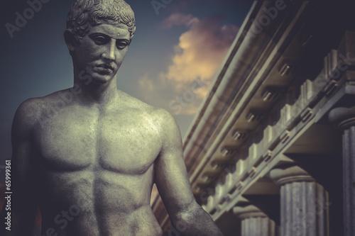 Zdjęcie XXL Greckie rzeźby, bohater apollo, posąg klasyczny