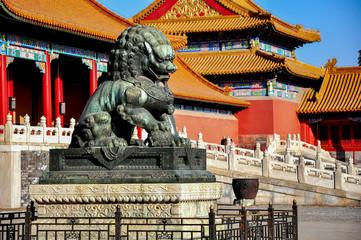 Fototapeta The forbidden city, world historic heritage, Beijing China.