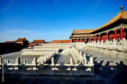 Photo Stands The forbidden city, world historic heritage, Beijing China.