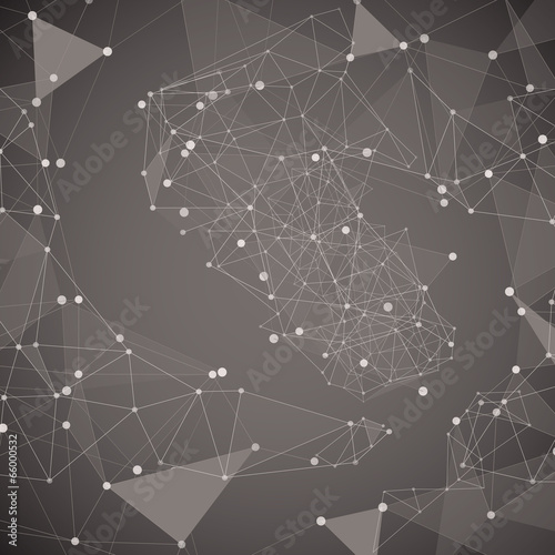 Abstract dark background made from points and lines