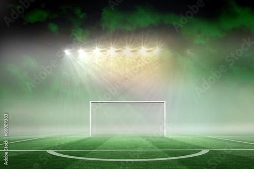 Fotografia, Obraz  Football pitch under spotlights