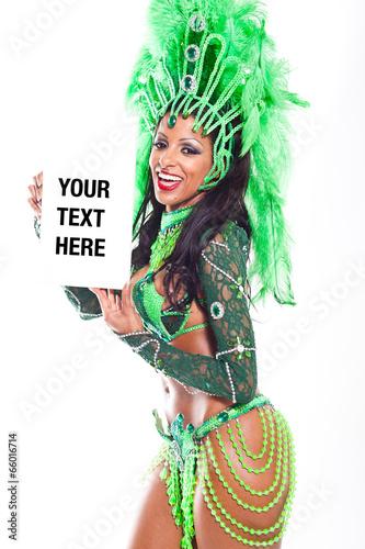 Foto op Canvas Schepselen Brazilian Samba Dancer