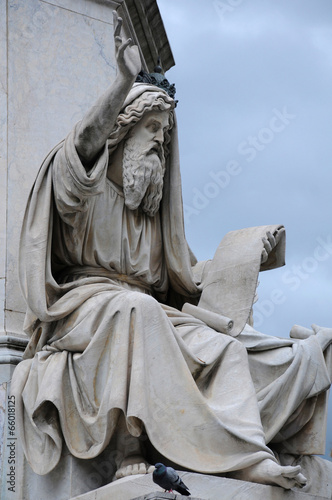 Statue of Ezekiel Canvas Print