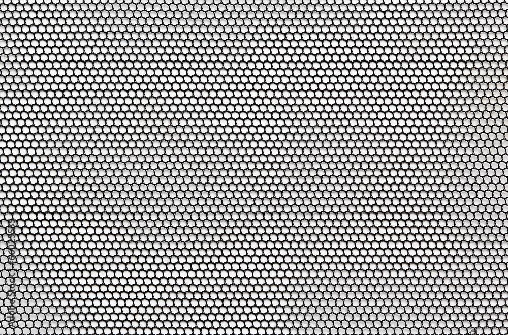 Fototapety, obrazy: Black mesh lace material texture macro shot