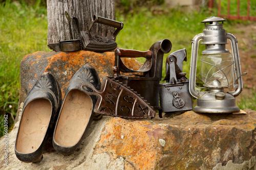 Fotografie, Obraz  herramientas y utensilios antiguos, vintage