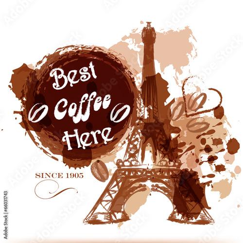 grunge-kawy-plakat-z-wiezy-eiffla-namalowane-przez-kawy-stylizowac