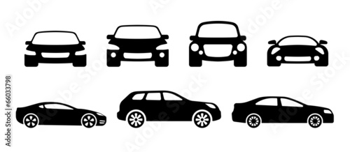 car silhouettes Canvas Print