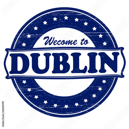 Welcome to Dublin Poster