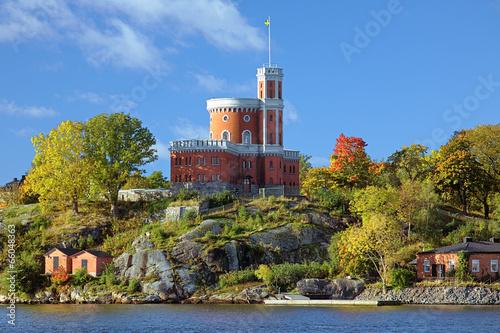 Staande foto Stockholm Small Castle on Kastellholmen island in Stockholm