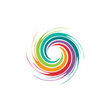 Abstract colorful swirl image. Concept of hurricane
