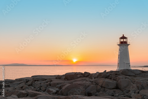 Peggys Cove's Lighthouse at Sunset