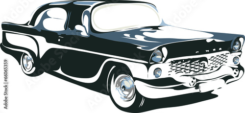 retro car in vector format