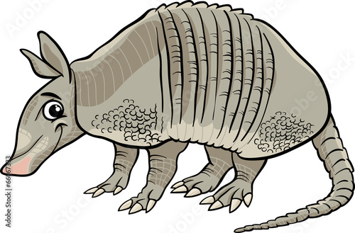 Photo armadillo animal cartoon illustration