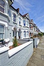 London Street Of Early 20th Century Edwardian Terraced Houses