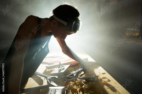 Obraz na plátně Repairs in workshop