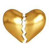 Golden broken heart