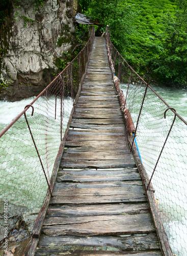 Most wiszący wiszący
