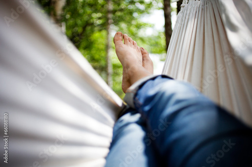 Poster  Relaxing in hammock