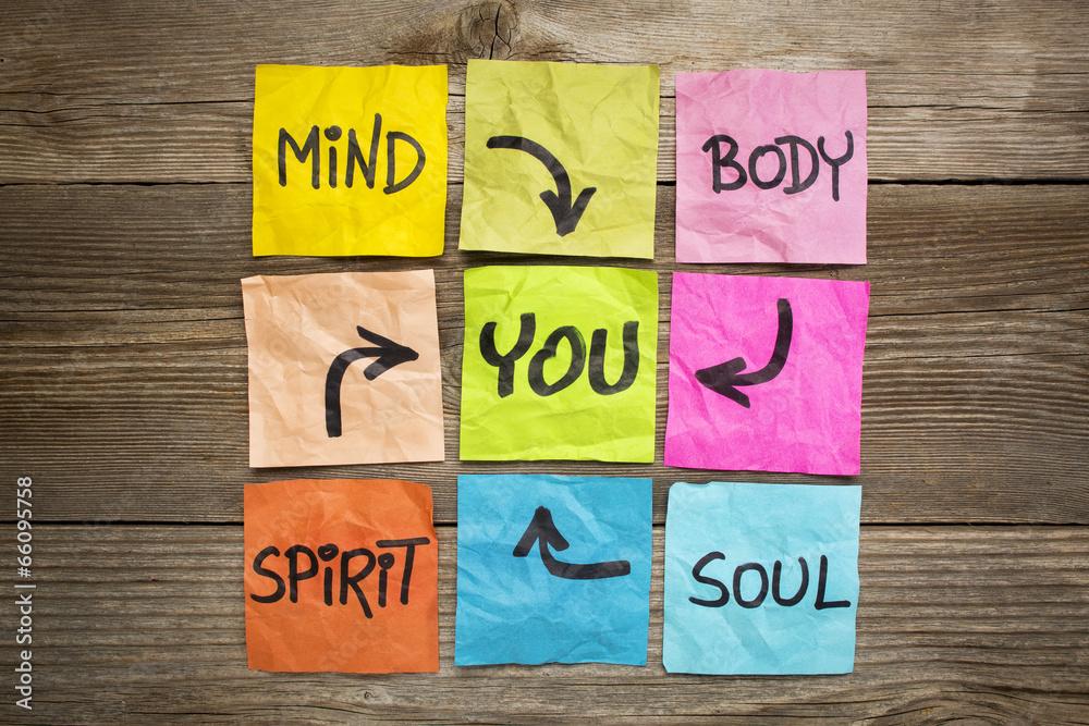Fototapety, obrazy: mind, body, spirit, soul and you