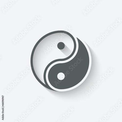 Fényképezés  Yin yang icon