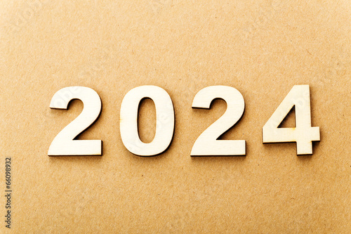 Fotografia  Wooden text for year 2024