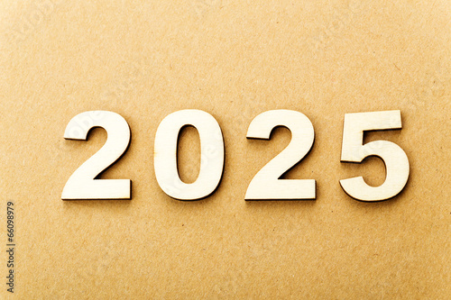 Poster  Wooden text for year 2025
