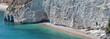 Wild beach in the Gargano.Apulia,Italy.Panorama.